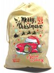 X-Large Cotton Drawcord Koolart Christmas Santa Sack Stocking Gift Bag & Mk1 MX-5 Miata Eunos Image